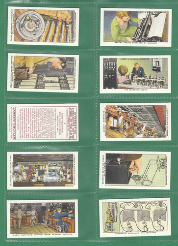 Card Collectors Society - Set Of 50 Lambert & Butler ' Work Of G.p.o. ' Cards