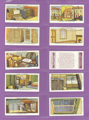 Card Collectors Society - Set Of 50 Ogden's ' Air Raid Precautions ' Cards