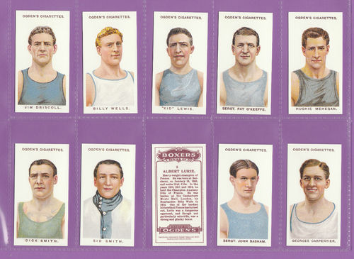 Card Collectors Society - Set Of 50 Ogden's ' Boxers ' Cards