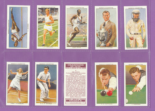 Card Collectors Society - Set Of 50 Ogden's ' Champions Of 1936 ' Card