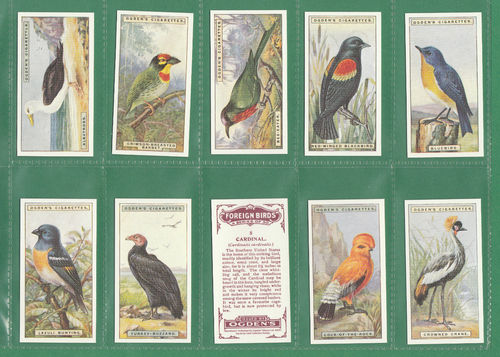 Card Collectors Society - Set Of 50 Ogden's ' Foreign Birds ' Cards