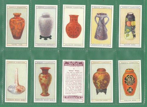 Card Collectors Society - Set Of 50 Ogden's ' Modern British Pottery ' Cards
