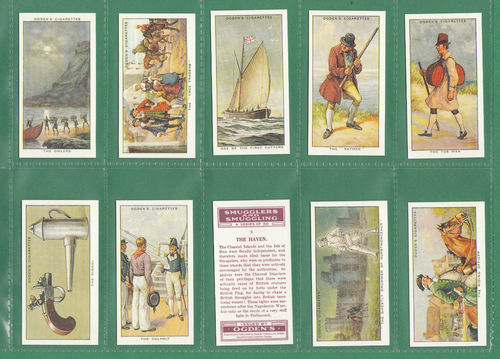 Card Collectors Society - Set Of 50 Ogden's ' Smugglers & Smuggling ' Cards
