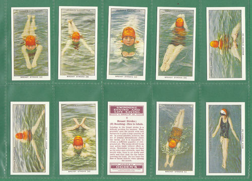 Card Collectors Society - Set Of 50 Ogden's ' Swimming, Diving Etc. ' Cards