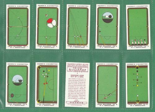 Card Collectors Society - Set Of 50 Ogden's ' Trick Billiards ' Cards