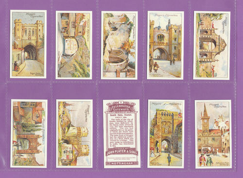 Card Collectors Society - Set Of 50 Player's ' Celebrated Gateways ' Cards