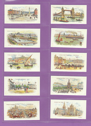 Card Collectors Society - Set Of 50 Player's ' Cities Of The World ' Cards