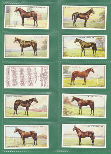 Card Collectors Society - Set Of 50 Player's ' Famous Irish-bred Horses ' Cards