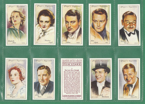 Card Collectors Society - Set Of 50 Player's ' Film Stars 2nd Series ' Cards