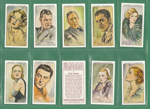 Card Collectors Society - Set Of 50 Player's ' Film Stars ' Cards