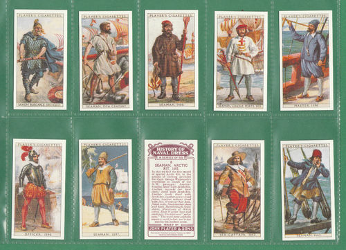 Card Collectors Society - Set Of 50 Player's ' History Of Naval Dress ' Cards
