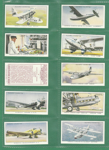 Card Collectors Society - Set Of 50 Player's ' International Air Liners ' Cards
