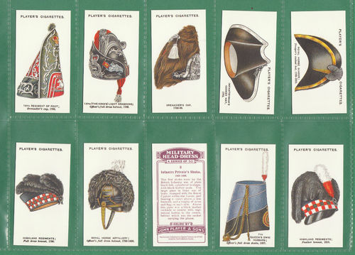 Card Collectors Society - Set Of 50 Player's ' Military Head - Dress ' Cards
