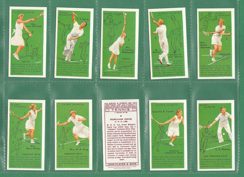 Card Collectors Society - Set Of 50 Player's ' Tennis ' Cards