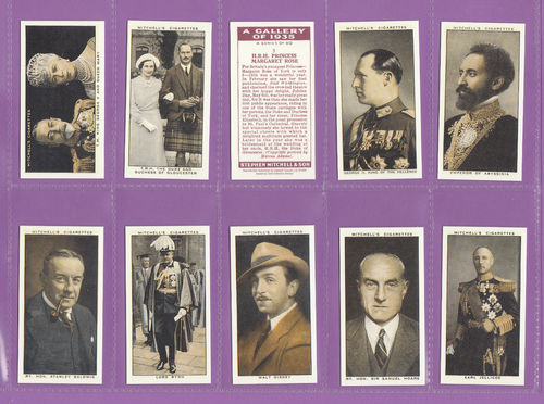 Card Collectors Society - Set Of 50 Stephen Mitchell's A Gallery Of 1935 Cards