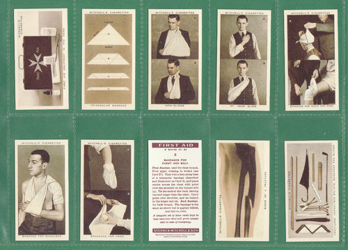 Card Collectors Society - Set Of 50 Stephen Mitchell's ' First Aid ' Cards
