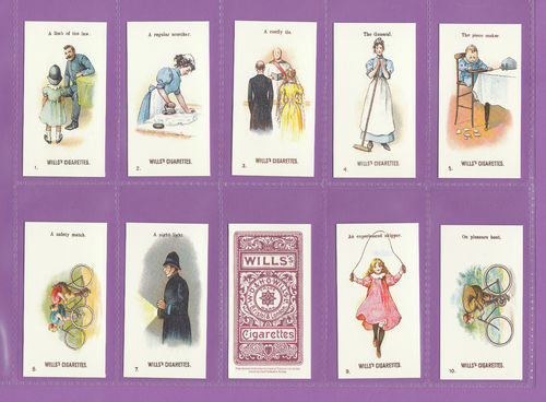 Card Collectors Society - Set Of 50 Wills ' Double Meaning ' Cards
