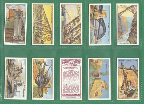 Card Collectors Society - Set Of 50 Wills ' Engineering Wonders ' Cards