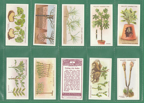 Card Collectors Society - Set Of 50 Wills ' Gardening Hints ' Cards