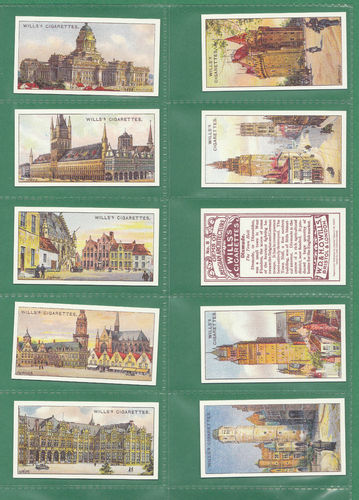 Card Collectors Society - Set Of 50 Wills ' Gems Of Belgian Architecture 'cards