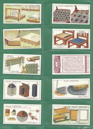 Card Collectors Society - Set Of 50 Wills ' Household Hints ' Cards