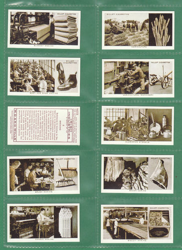 Card Collectors Society - Set Of 50 Wills ' Irish Industries ' Cards
