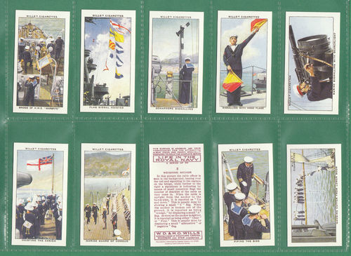 Card Collectors Society - Set Of 50 Wills ' Life In The Royal Navy ' Cards