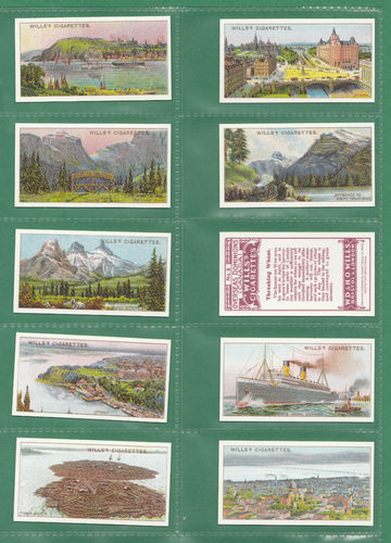 Card Collectors Society - Set Of 50 Wills ' Overseas Dominions Canada ' Cards