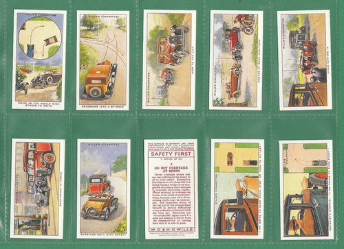 Card Collectors Society - Set Of 50 Wills ' Safety First ' Cards