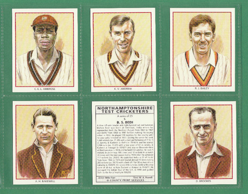 County Print Services - Set Of L 25 Northamptonshire Test Cricketers - 1993