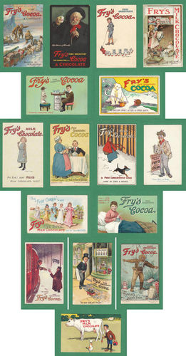 Fry's - 20 Sets of 16 Postcards - Nostalgic Reproductions of very rare Advertisement Postcards