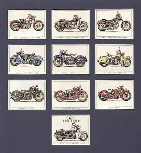 Golden Era - Set Of 10 American Motor Cycles - 1998
