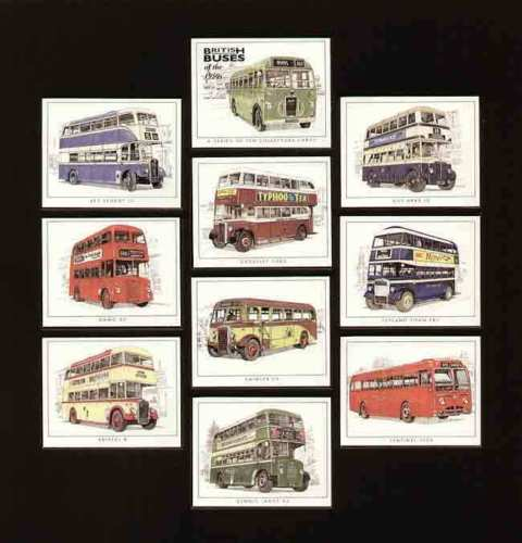 Golden Era - Set Of 10 British Buses Of The 1950s
