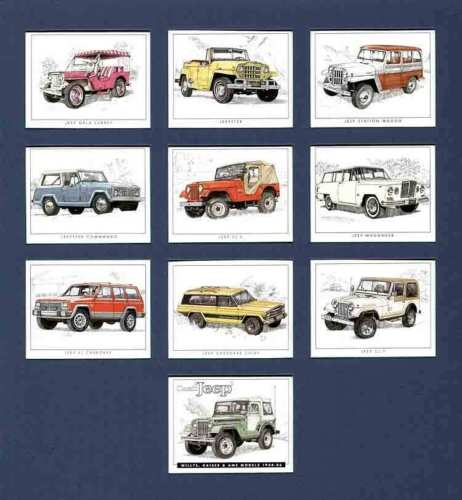 Golden Era - Set Of 10 Classic Jeep - 2002