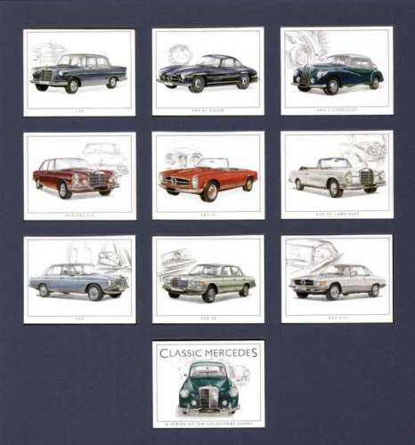 Golden Era - Set Of 10 Classic Mercedes Cards - 2000