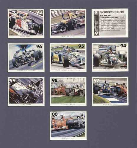 Golden Era - Set Of 10 F1 Champions 1991 - 2000