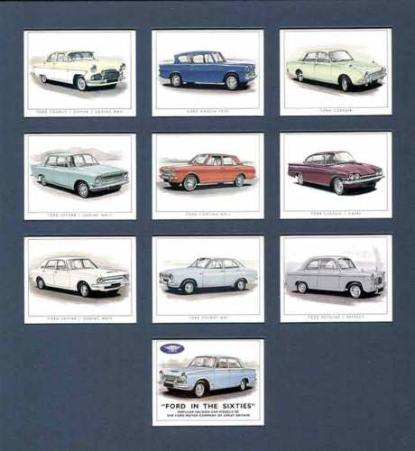 Golden Era - Set Of 10 Ford In The Sixties Cards - 1996