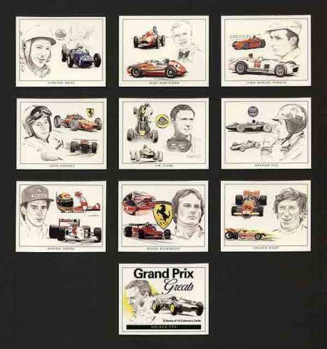Golden Era - Set Of 10 Grand Prix Greats Cards - 1996