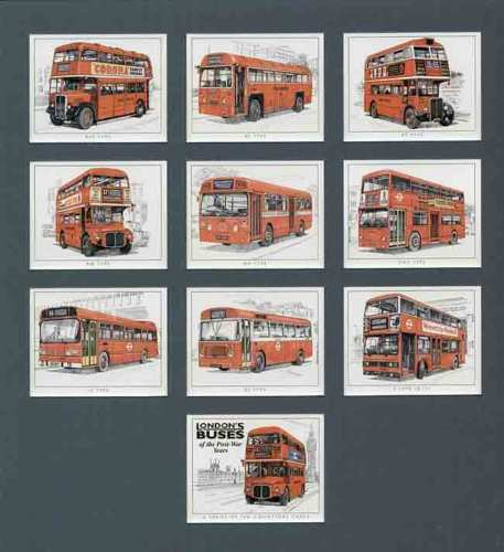 Golden Era - Set Of 10 London Buses Of Post-war Years