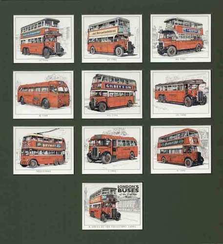Golden Era - Set Of 10 London Buses Of Pre-war Years
