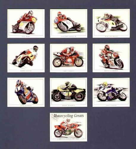 Golden Era - Set Of 10 Motorcycling Greats Cards - 1997