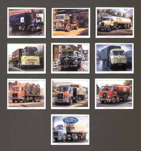 Golden Era - Set Of 10 On The Move (british Lorries)