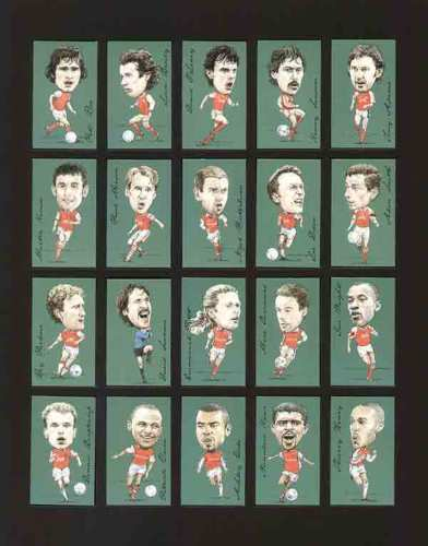 Golden Era - Set Of 20 Famous Footballers - Arsenal