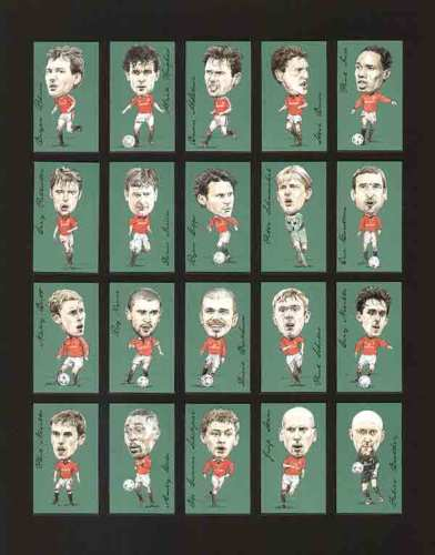 Golden Era - Set Of 20 Famous Footballers - Man Utd