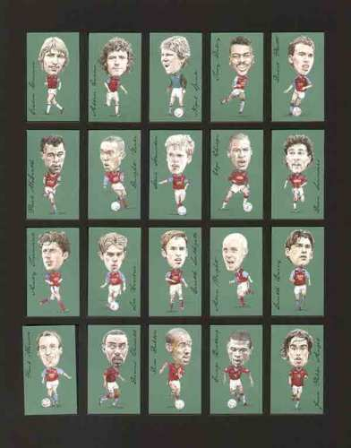 Golden Era - Set Of 21 Famous Footballers - Aston Villa