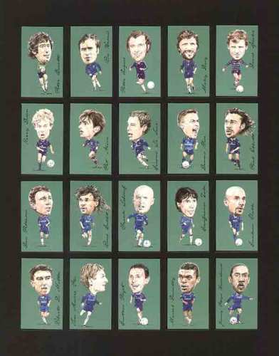 Golden Era - Set Of 21 Famous Footballers - Chelsea