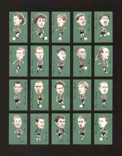 Golden Era - Set Of 21 Famous Footballers - Newcastle