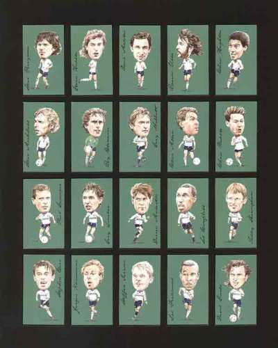 Golden Era - Set Of 21 Famous Footballers - Tottenham