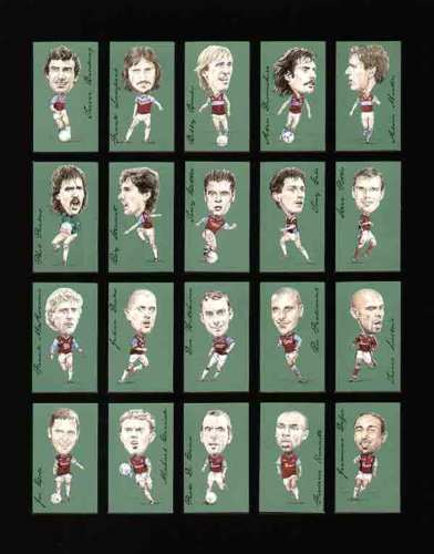 Golden Era - Set Of 21 Famous Footballers - West Ham