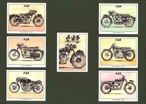 Golden Era - Set Of 7 A.j.s. Motorcycles - 1995